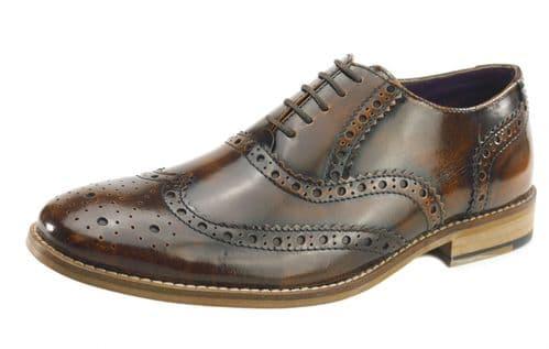 Frank James Newman Tan Shine Shoes